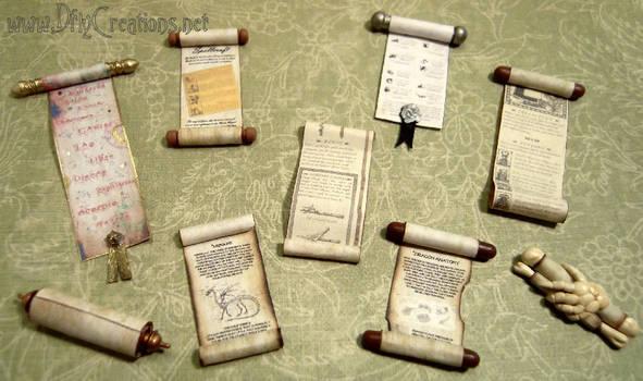 Miniature Scrolls