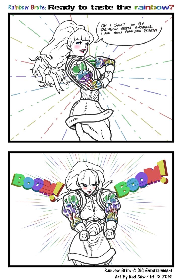 Rainbow Brute: Taste the rainbow by RedSilverArtist