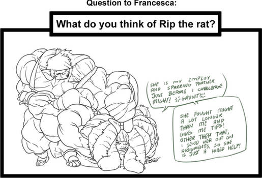 QandA to Francesca: Thoughts on RIP