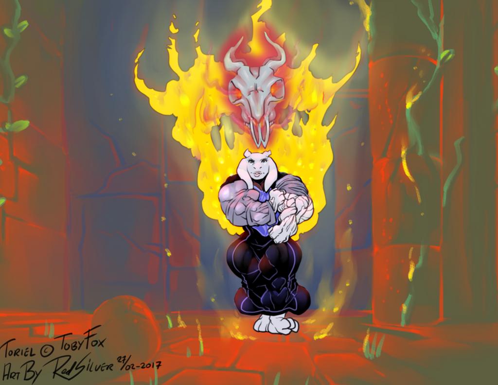 Goatmom burning emotions 1of3 by RedSilverArtist