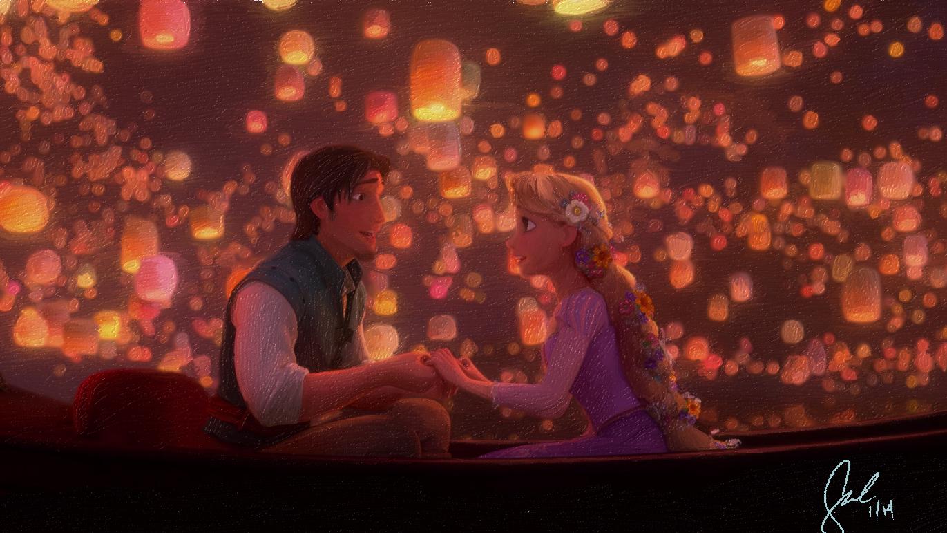Disney S Tangled I See The Light Scene By Minoru987 On Deviantart