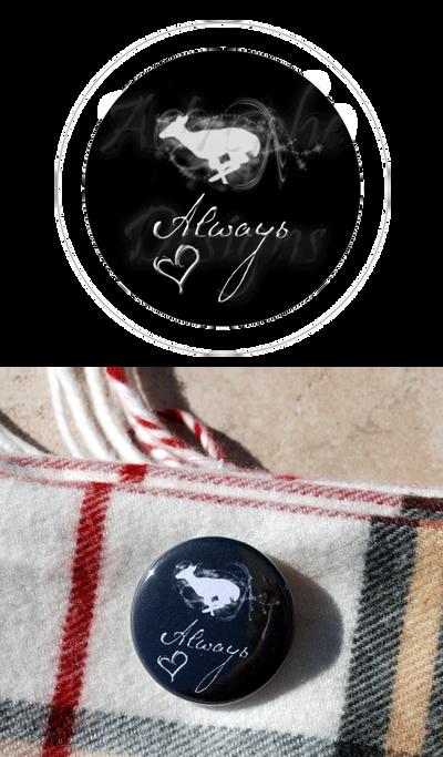 Snape Silver Doe Always Button by kittykat01