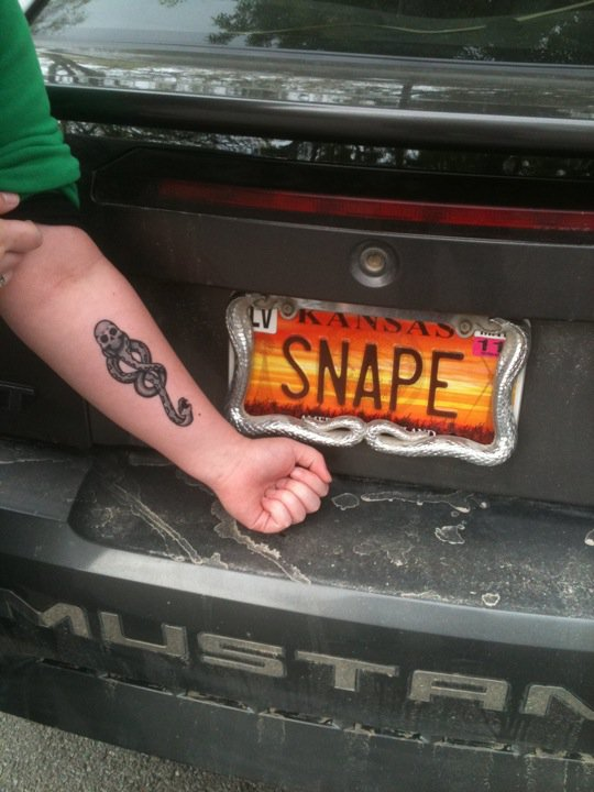 My Dark Mark and Snape car by kittykat01