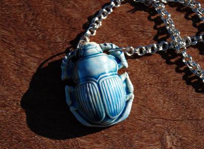 Scarab Vessel Necklace by kittykat01