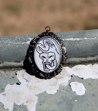 Dark Mark Cameo Pendant by kittykat01