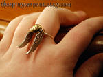 Golden Snitch Ring - Wirewrapped