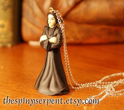 Severus Snape Figure Necklace by kittykat01
