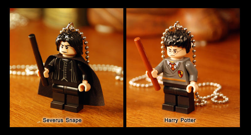 Lego Figure Snape and Harry Necklace by kittykat01