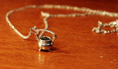 Sterling Cauldron Necklace by kittykat01