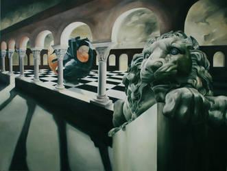 Lion, Sphere, Enigma by ellejayess