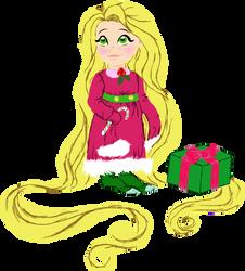 Christmas Rapunzel Art Trade