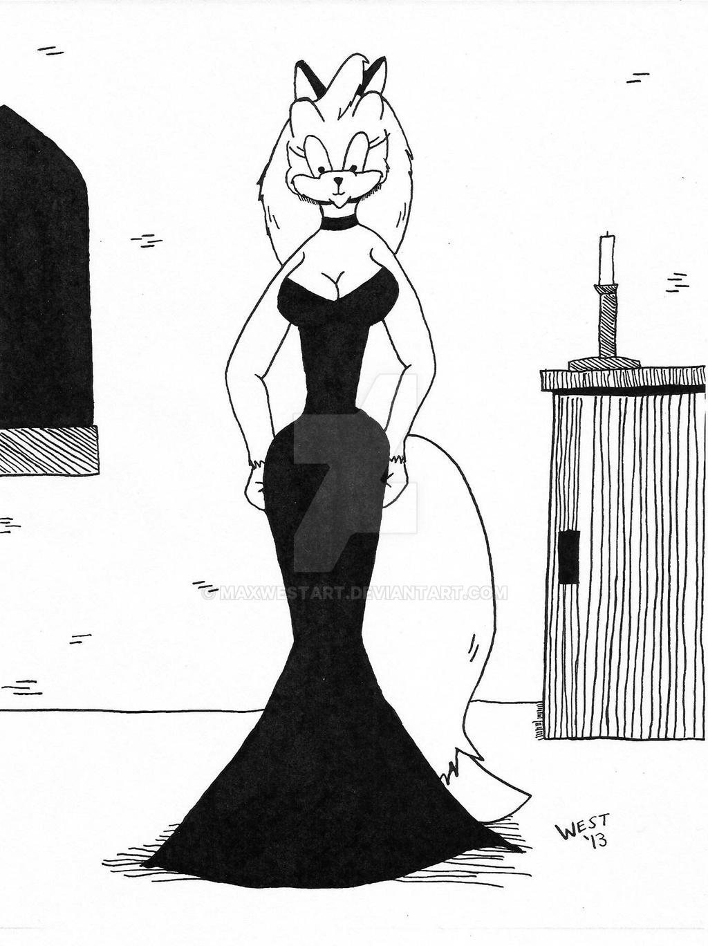 Peggy Jo in Black Dress