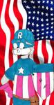 Rusty Captain America Flag