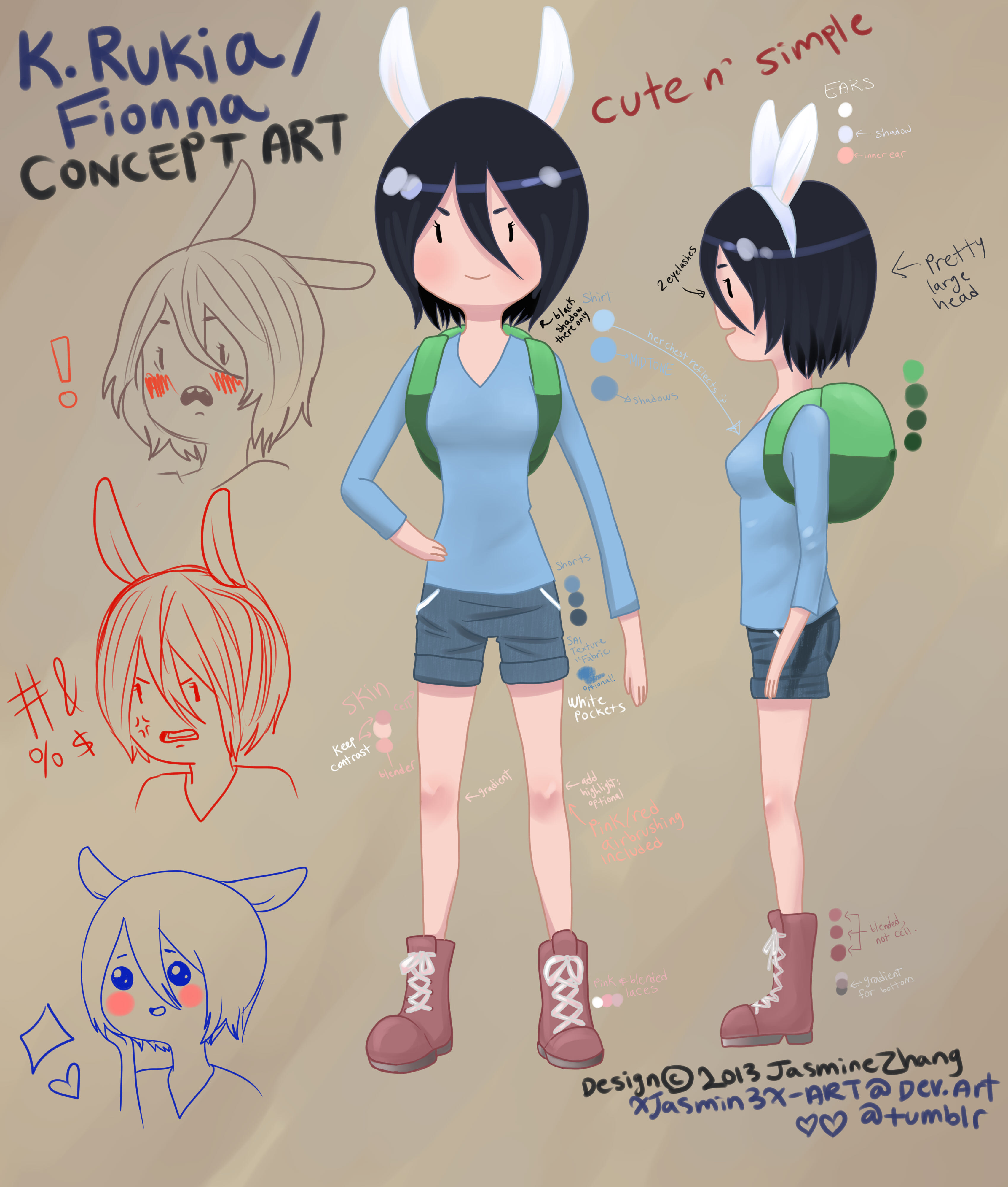 Rukia/Fionna Concept art by Xiaooyu
