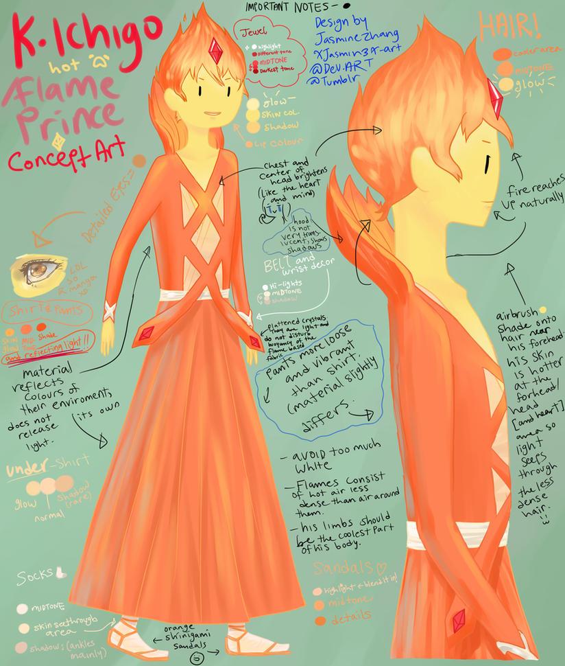 Ichigo/Flame Prince concept art by Xiaooyu