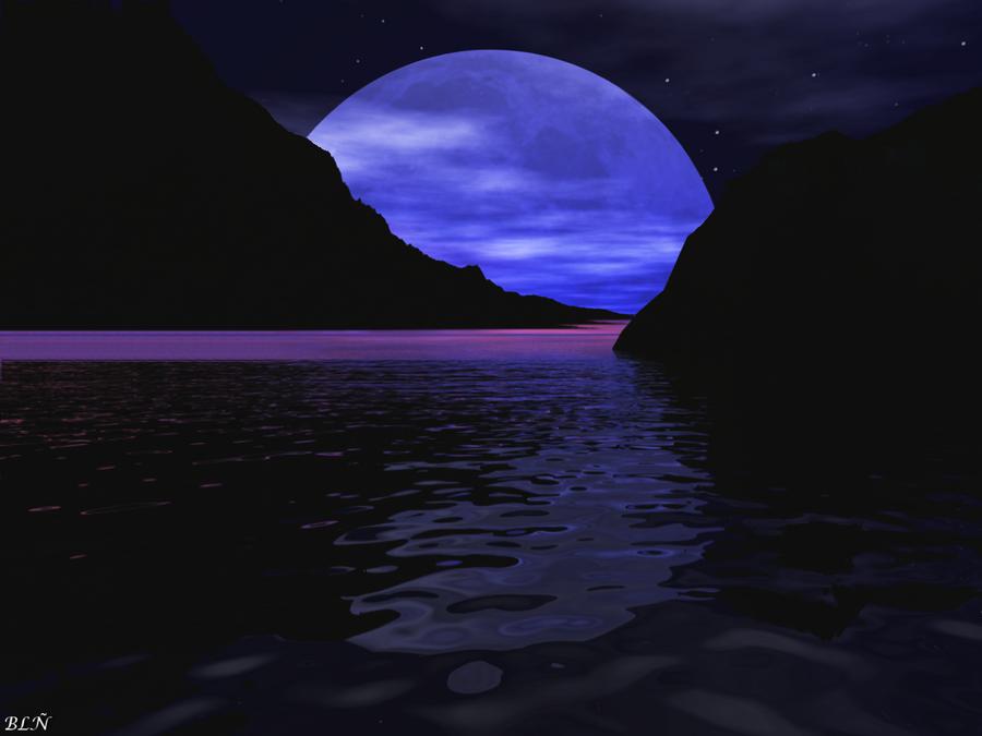 blue moon by larabln on deviantart