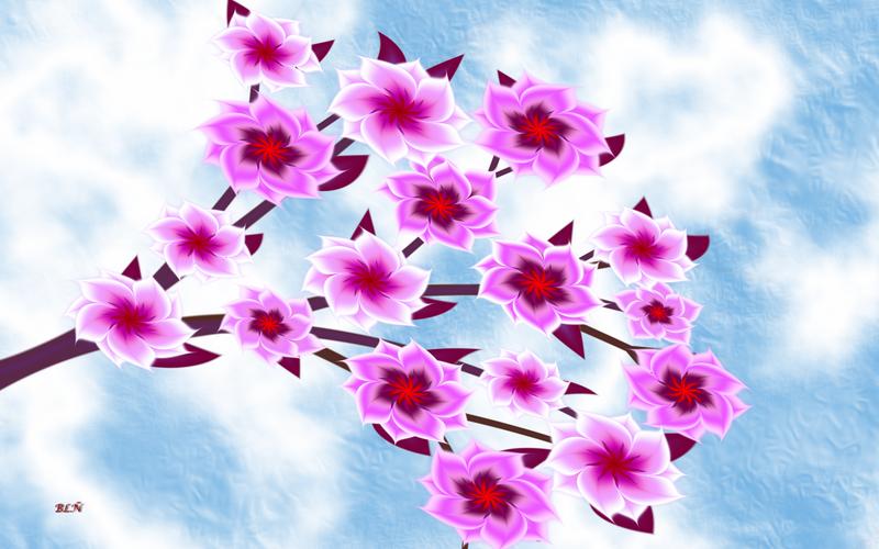 Cherry Blossom in Spring by LaraBLN