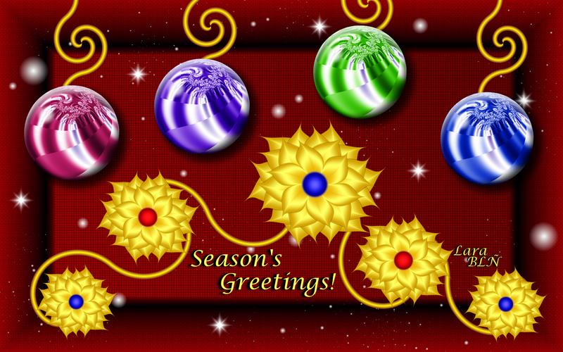 Season's Greetings Card by LaraBLN