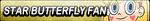 Star Butterfly Fan Button by EdaTheOwlLady