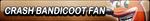 Crash Bandicoot Fan Button by EclipsaButterfly