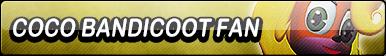 Coco Bandicoot Fan Button by TaffytaMuttonfudge