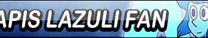 Lapis Lazuli Fan Button by EclipsaButterfly