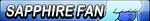 Sapphire Fan Button by EdaTheOwlLady