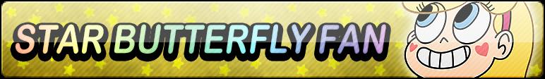 Star Butterfly XL Fan Button by TaffytaMuttonfudge