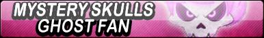 Mystery Skulls Ghost Fan Button