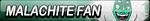 Malachite Fan Button by EclipsaButterfly