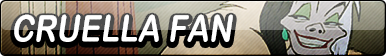 Cruella Fan Button by TaffytaMuttonfudge