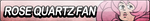 Rose Quartz Fan Button by EdaTheOwlLady