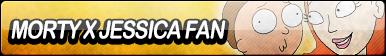 Morty X Jessica Fan Button