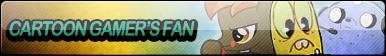 Cartoon Gamer's Fan Button