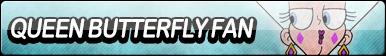 Queen Butterfly Fan Button by EclipsaButterfly
