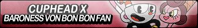 Cuphead x Baroness Von Bon Bon Fan Button