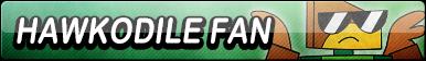 Hawkodile Fan Button by EclipsaButterfly