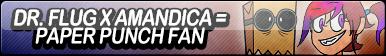 Dr. Flug X Amandica = Paper Punch Fan Button