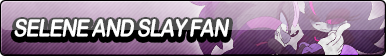 Selene and Slay Fan Button by EclipsaButterfly