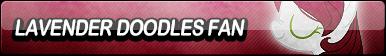 Lavender Doodles Fan Button