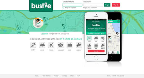Bustle - Activity locator app. by rp-designs