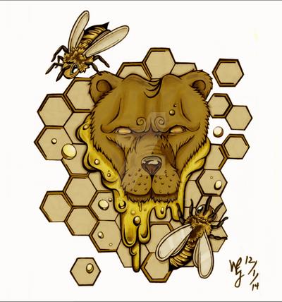 honey bear by KratosWarrior