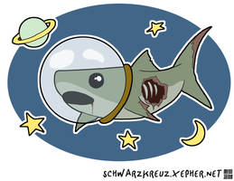 Zombie Space Shark by doppelgangergeisha