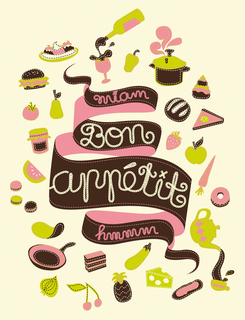 how to write bon appetit