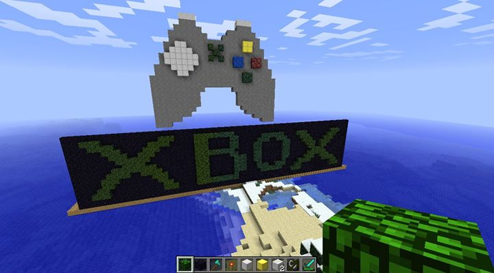 xbox logo in minecraft by zawahrehx on deviantart
