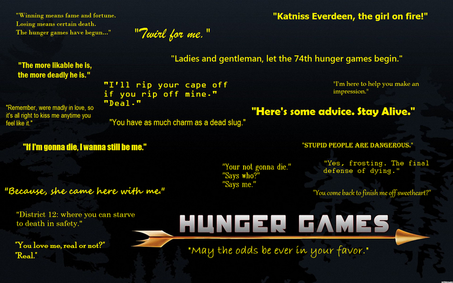 Hunger Game Quotes Captivating Hunger Games Quoteskawaiipandamelon On Deviantart