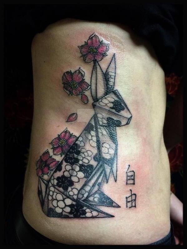 Origami Rabbit By Garyou Tattoo