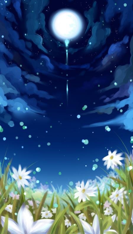 Moonlit garden by pichinayu