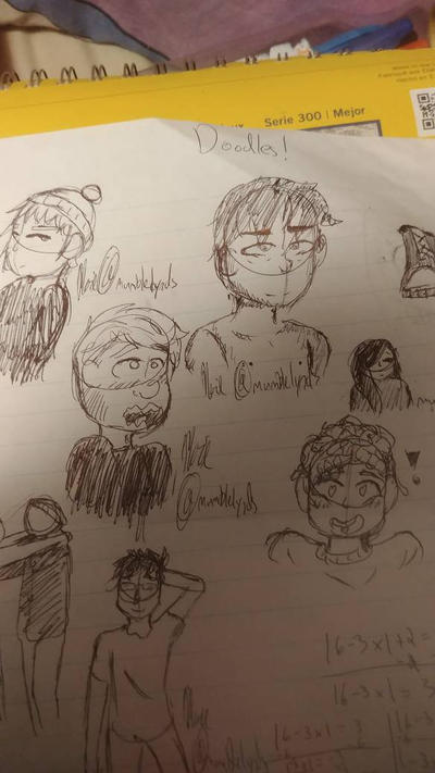 doodles in class  by mumblelynds