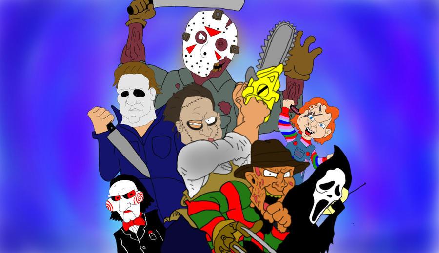Horror Movie Killers by JacksonBegelhole